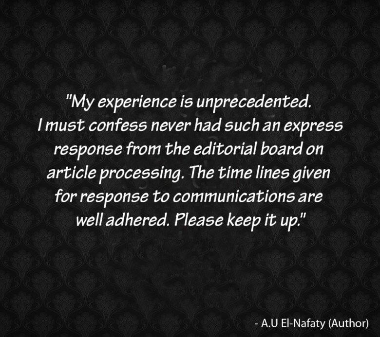 Testimonial of A.U El-Nafaty
